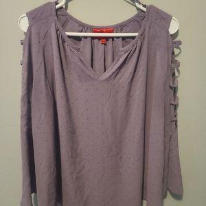 Jennifer Lopez purple beaded loose blouse
